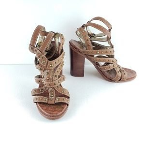Sam Edelman Leather Studded Gladiator Sandals